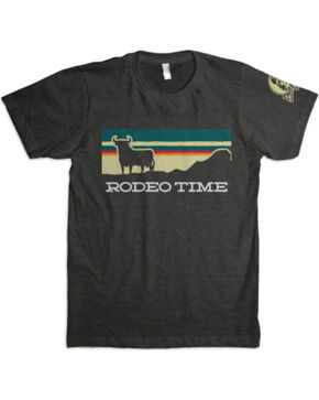 Dale Brisby Men's Sunset Rodeo Time T-Shirt , Grey, hi-res