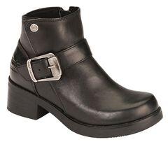 Harley Davidson Women's Khari Leather Harness Boots, Black, hi-res