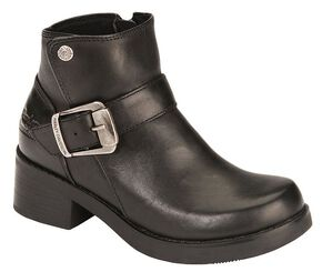 Harley Davidson Women's Khari Leather Harness Boots, Black, hi-res