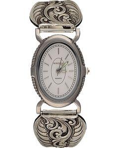 Montana Silversmiths Retro Filigree Watch, Silver, hi-res