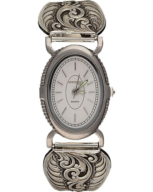 Montana Silversmiths Retro Filigree Watch, Silver, hi-res