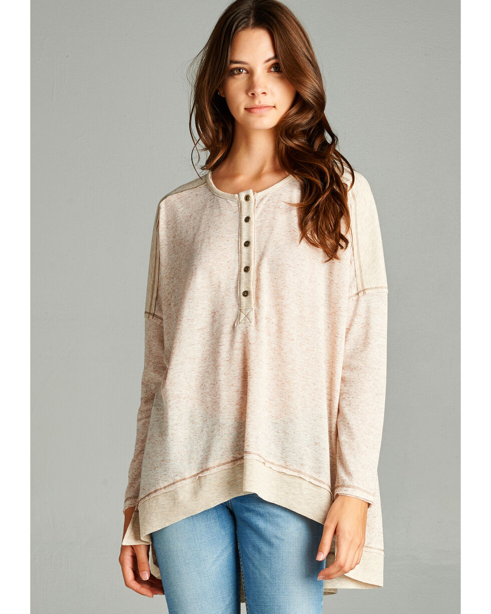 Hyku Women's Taupe Tunic , Taupe, hi-res