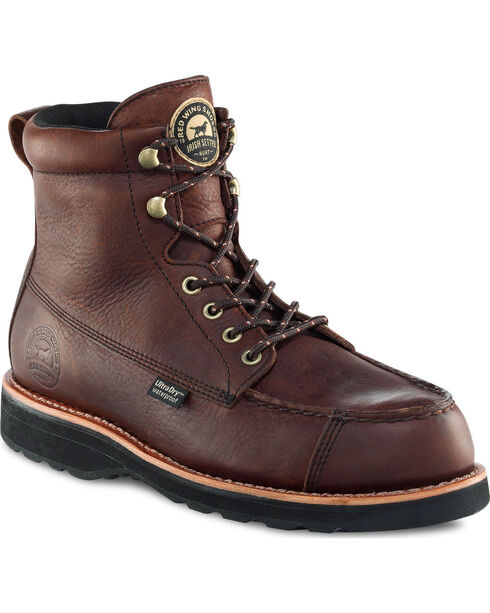 """Red Wing Irish Setter Dark Brown Wingshooter UltraDry 7"""" Hunting Boots , Brown, hi-res"""