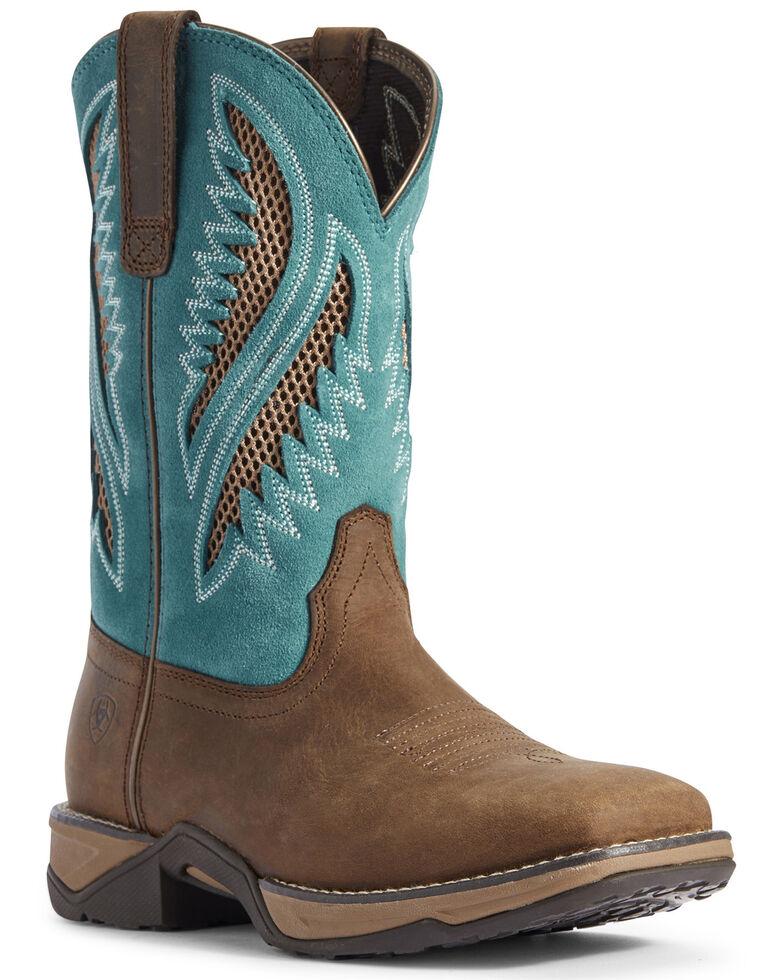 Ariat Women's Anthem VentTEK Western Boots - Wide Square Toe, Brown, hi-res