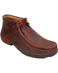 Twisted X Driving Lace-Up Moccasin Shoes - Moc Toe, Copper, hi-res