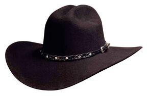Bullhide Pistol Pete 6X Premium Wool Cowboy Hat, Black, hi-res