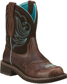 Ariat Fatbaby Heritage Dapper Cowgirl Boots - Round Toe, Chocolate, hi-res
