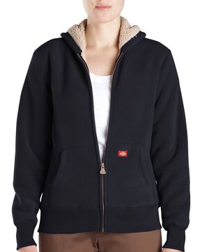 Dickies Women's Sherpa Lined Fleece Jacket, Black, hi-res