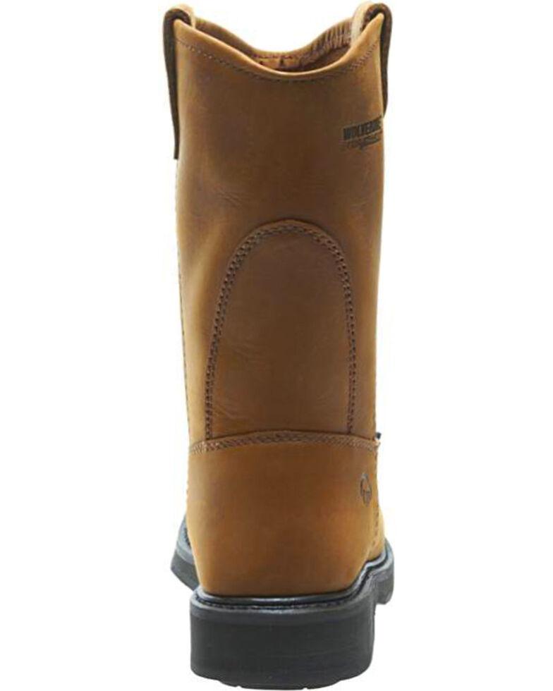 a59f5aaf744 Wolverine Men's Brown Ingham Durashocks Wellington Work Boots - Steel Toe