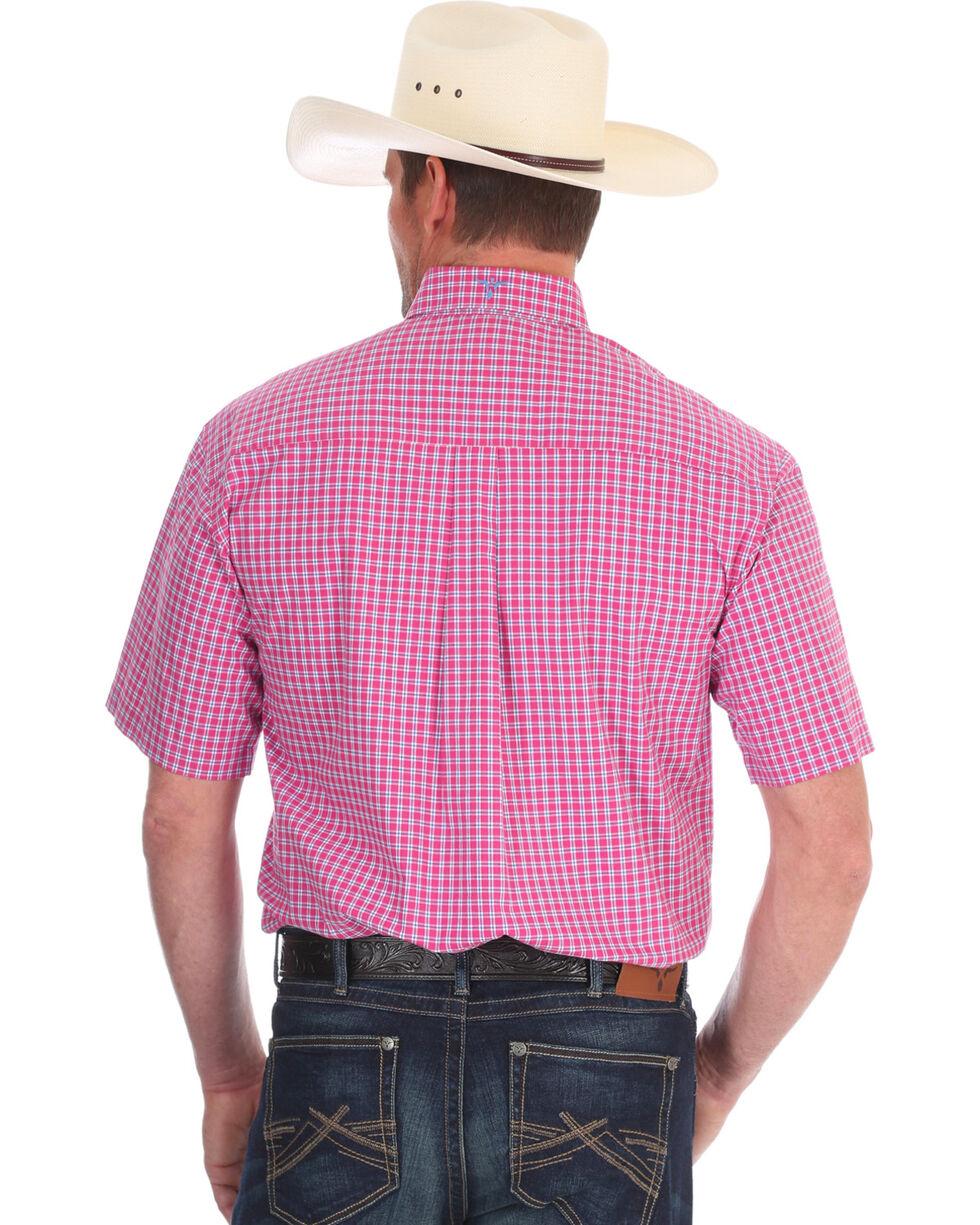 Wrangler Men's Pink Plaid 20X Competition Advanced Comfort Shirt , Pink, hi-res