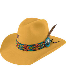 Charlie 1 Horse Women's Yellow Gold Digger Hat , Yellow, hi-res
