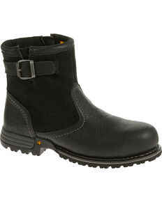 Caterpillar Women's Black Jace Waterproof Work Boots - Steel Toe , Black, hi-res