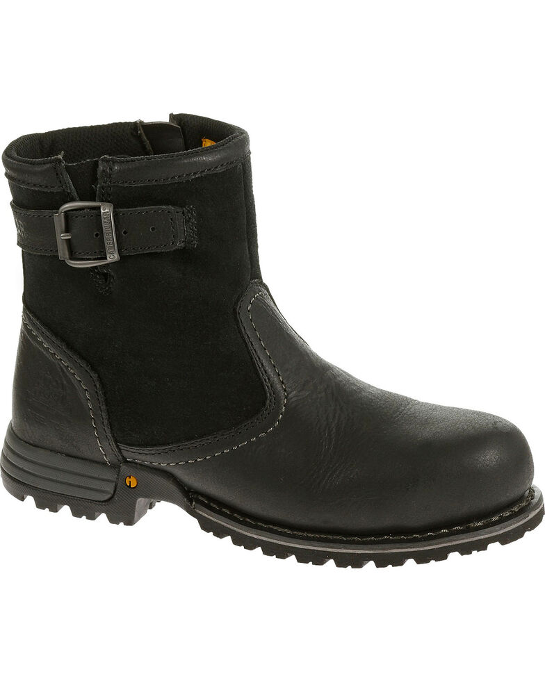 Caterpillar Womens Black Jace Waterproof Work Boots Steel Toe