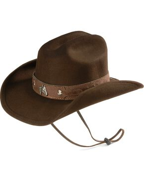 Bullhide Kids' Horsing Around Wool Cowboy Hat, Chocolate, hi-res