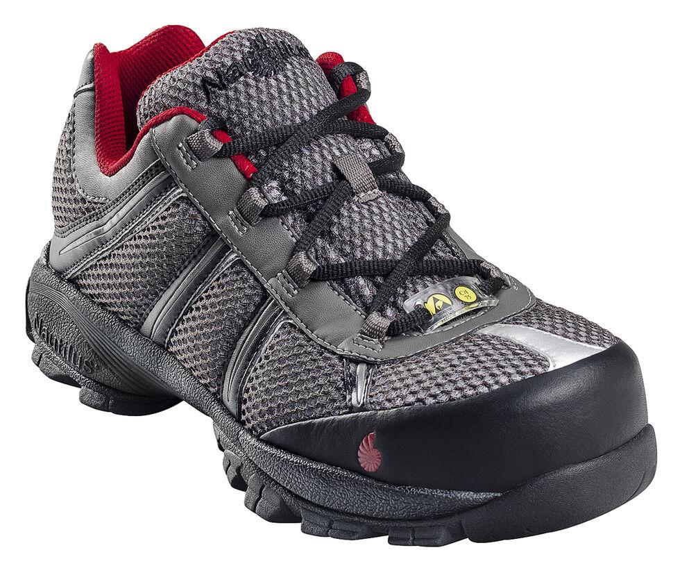 Nautilus Men's Static Dissipative Work Shoes - Steel Toe, Grey, hi-res