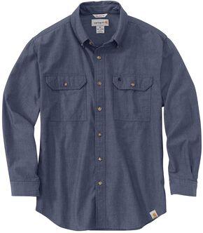 Carhartt Fort Long Sleeve Shirt, Denim, hi-res