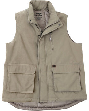 Wrangler Men's RIGGS Workwear Foreman Vest - Big & Tall, Dark Khaki, hi-res