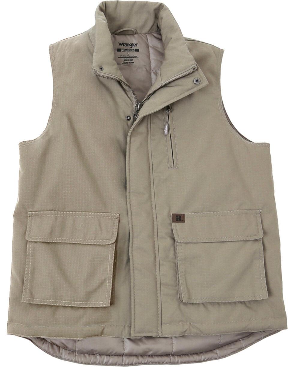 Wrangler Men's RIGGS Workwear Foreman Vest - Big & Tall, Dark Khaki, hi-res