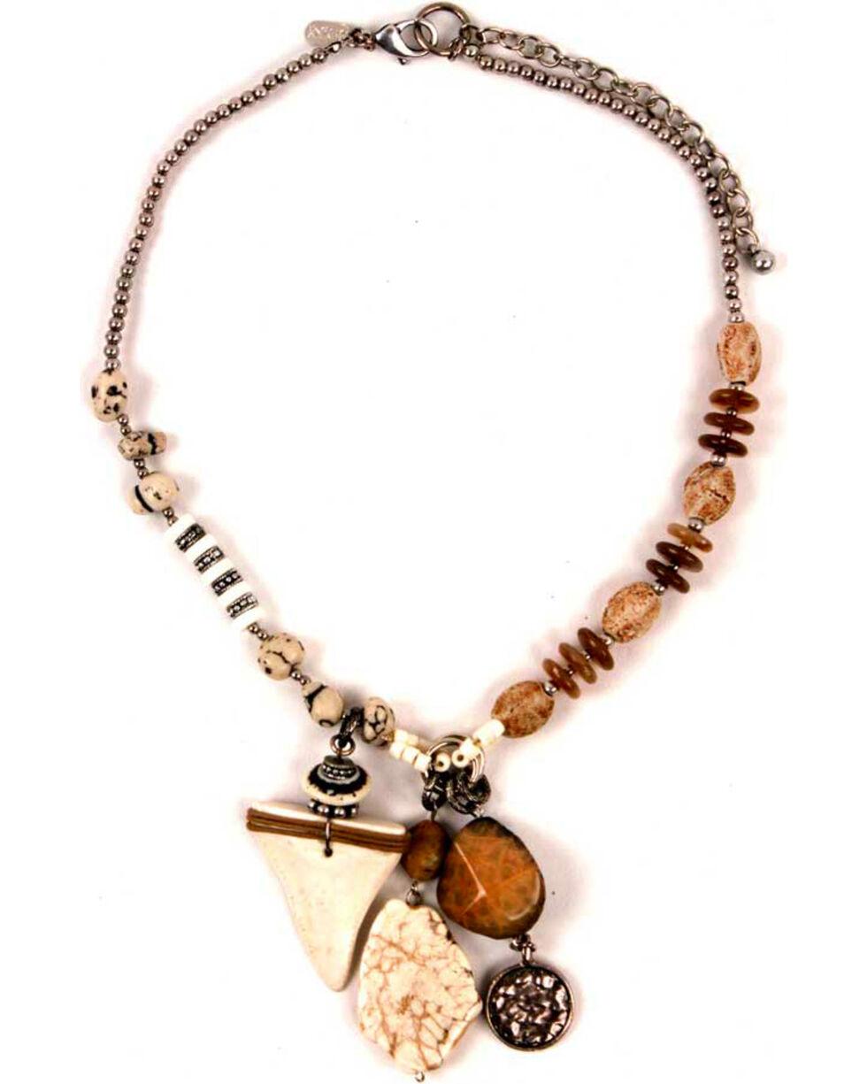 Treska Women's Short Beaded Pendant Necklace, White, hi-res