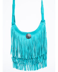 Idyllwind Women's Swing My Way Turquoise Fringe Bag, Turquoise, hi-res