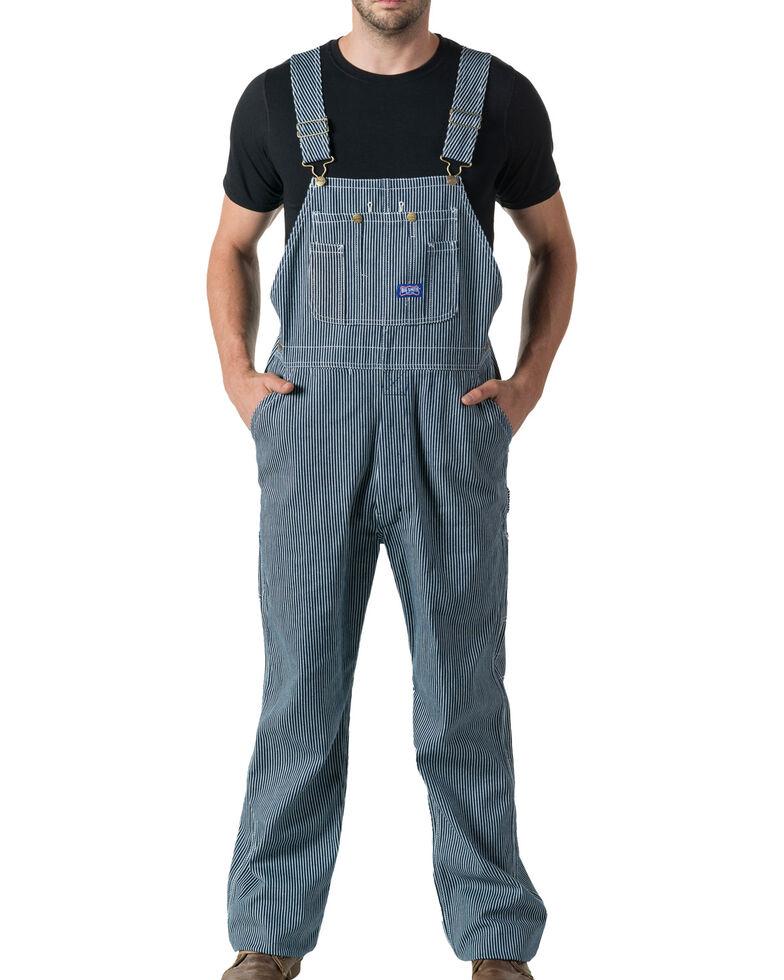 Walls Big Smith Men's Hickory Stripe Bib Overall - Big and Tall, Indigo, hi-res