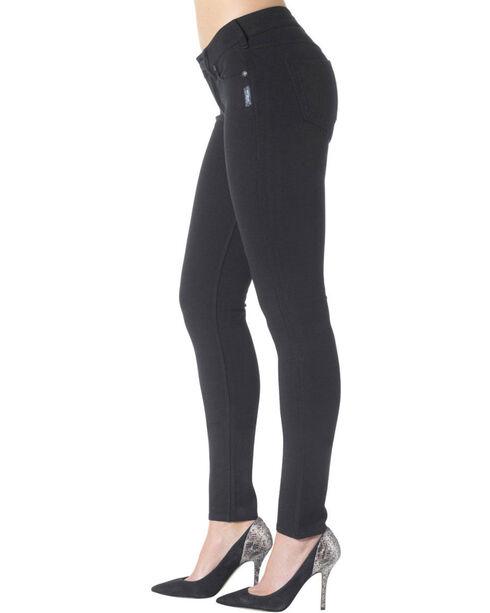 Silver Jeans Co. Aiko Black Mid Super Skinny Joga Jeans, Black, hi-res