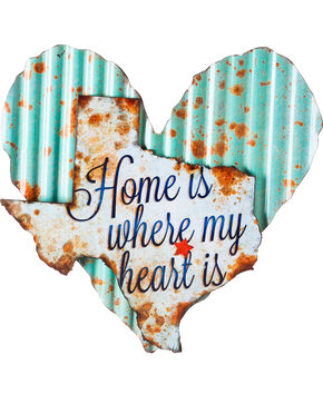 Evergreen Light Blue Heart with White Texas Wall Art , No Color, hi-res
