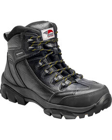 Avenger Men's Waterproof Hiker Work Boots - Composite Toe, Black, hi-res