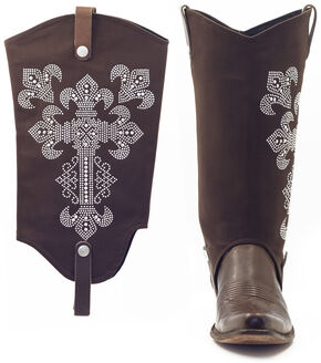 BootRoxx Hope Chocolate Boot Covers, Brown, hi-res