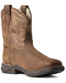 Ariat Women's Distressed Brown Anthem Shortie II H20 Full-Grain Western Boot - Square Toe , Brown, hi-res