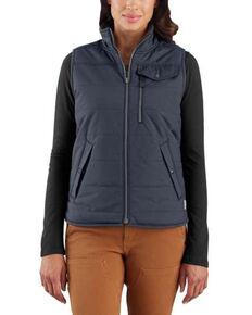 Carhartt Women's Bluestone Utility Sherpa Lined Work Vest, Blue, hi-res