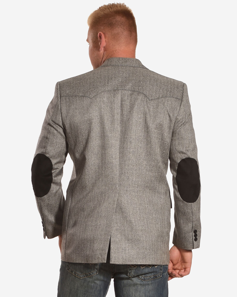 Circle S Men's Grey Herringbone Lubbock Sport Coat - Big, Grey, hi-res