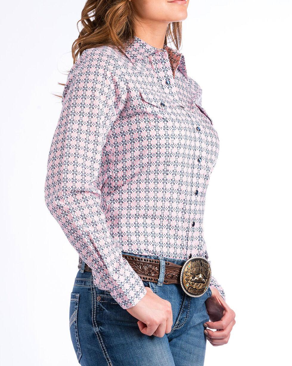 Cinch Women's Pink Medallion Print Western Shirt , Purple, hi-res