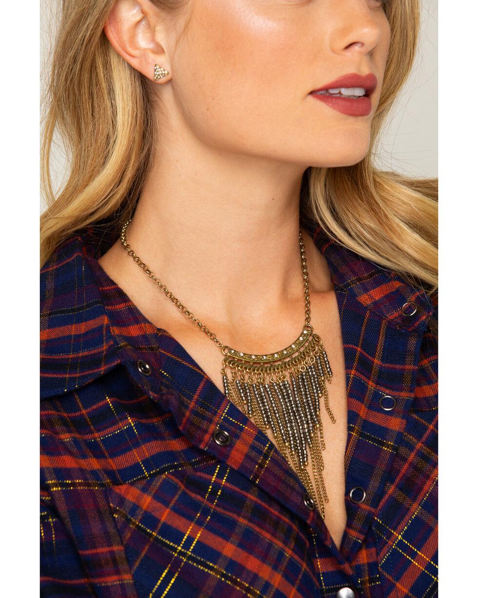 Shyanne Women's Gold Fringe Jewelry Set, Gold, hi-res