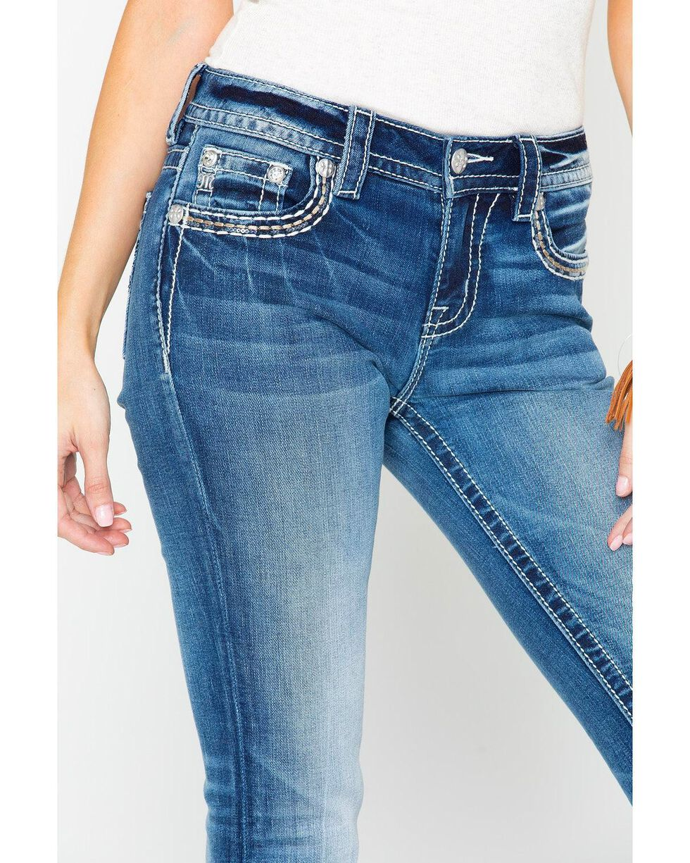 Miss Me Women's Chloe Embroidered Pocket Light Boot Jeans , Blue, hi-res