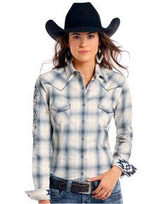 ab24e73b Rough Stock by Panhandle Womens Thurston Antique Plaid Long Sleeve Western  Shirt - Plus, Multi