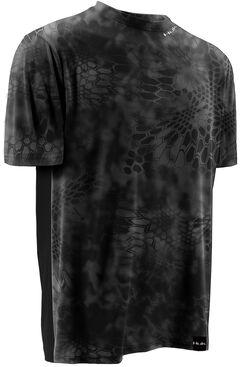 Huk Men's Kryptek LoPro ICON Short Sleeve Top , Grey, hi-res
