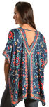Flying Tomato Women's Printed Kaftan Tunic, Cobalt, hi-res