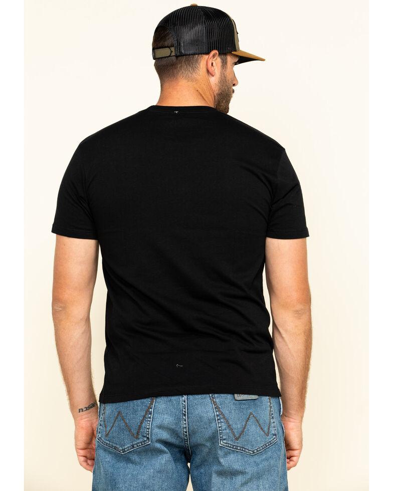 Moonshine Spirit Men's Black Acoustic Pick Graphic Short Sleeve T-Shirt , Black, hi-res