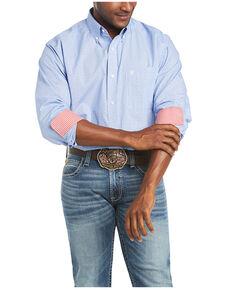 Ariat Men's Wrinkle Free Gavrel Dobby Dot Print Long Sleeve Button-Down Western Shirt - Big & Tall, , hi-res