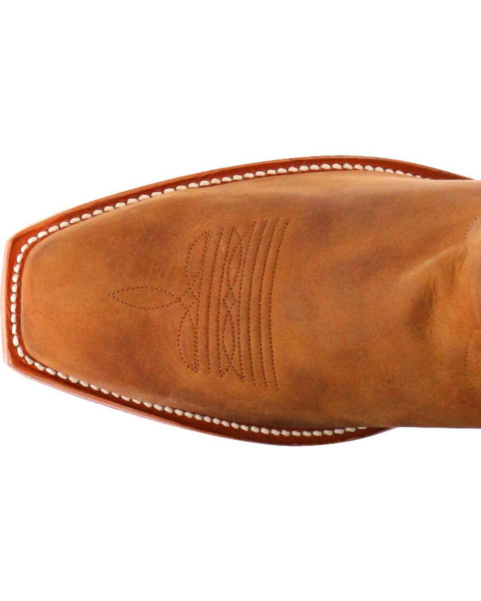 Moonshine Spirit Men's Crazy Horse Vintage Western Boots - Square Toe, Brown, hi-res