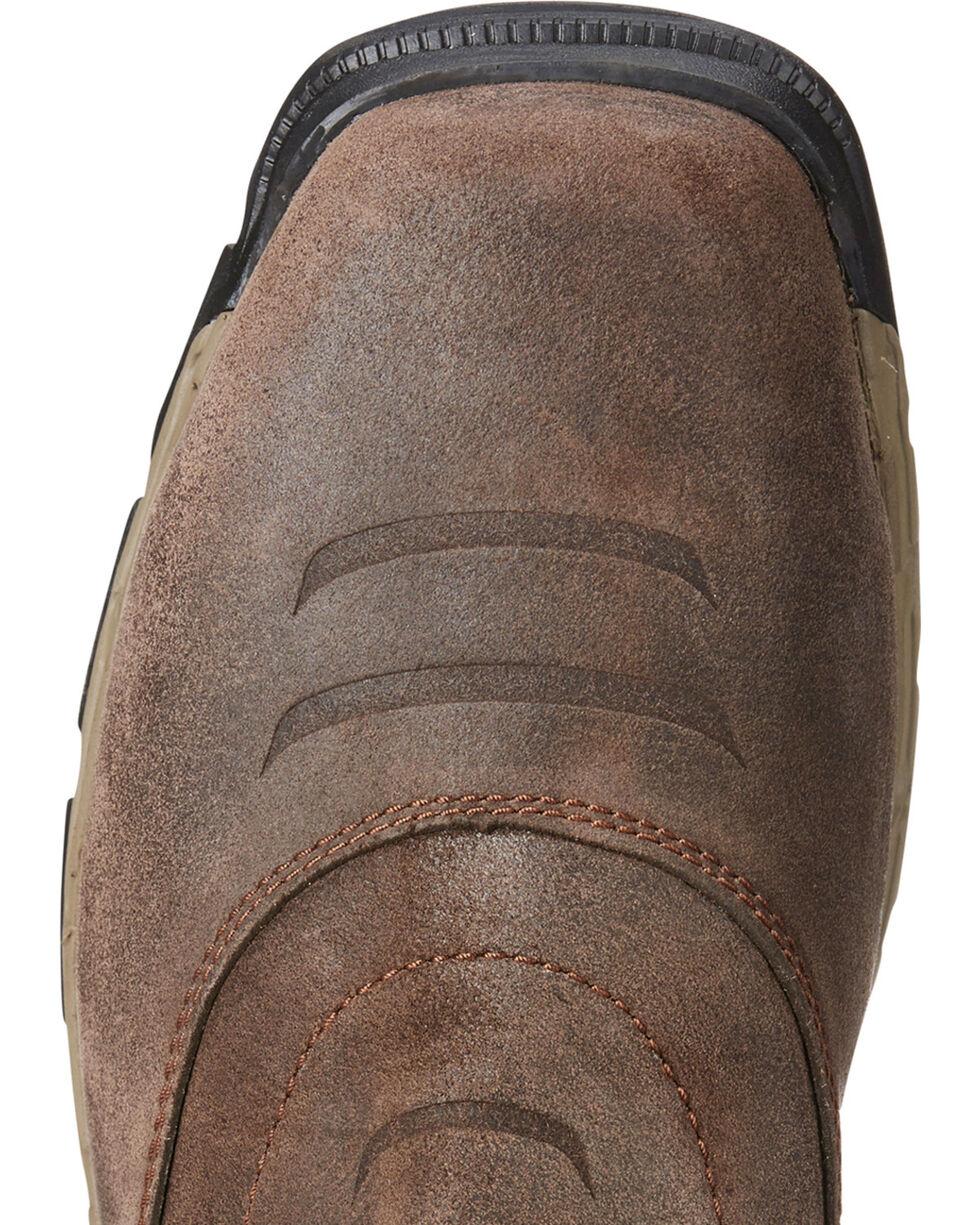 Ariat Men's Rebar Western VentTEK Work Boots - Square Toe, Chocolate, hi-res