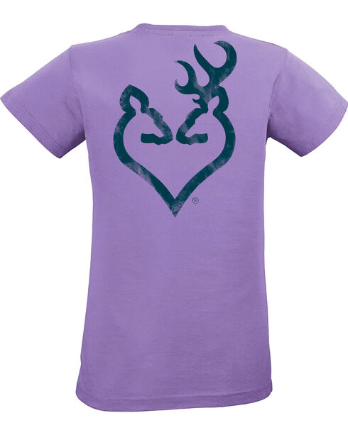 Browning Women's Lavender Distressed Buckheart Tee, Lavender, hi-res