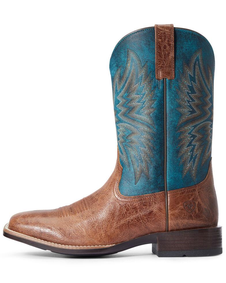 Ariat Men's Valor Western Boots - Wide Square Toe, Brown, hi-res