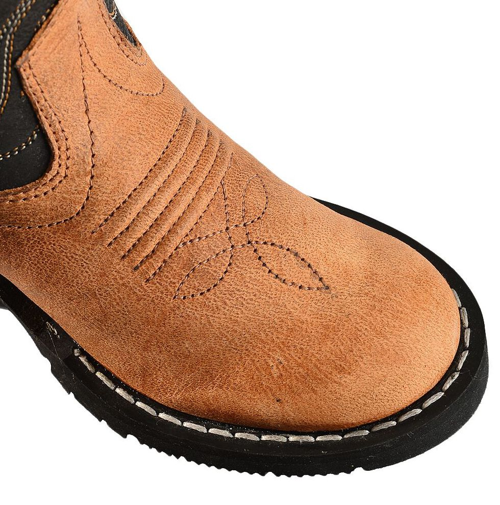 Old West Toddler Boys' Black Cowboy Boots - Round Toe, Tan, hi-res