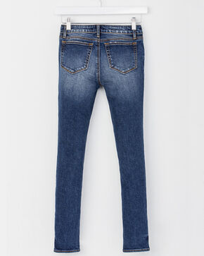 Miss Me Girls' Classic Fit Ankle Skinny Jeans , Indigo, hi-res