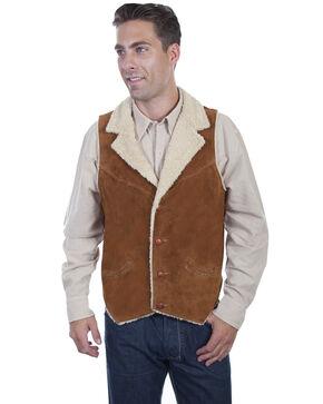 Scully Men's Faux Suede Shearling Vest, Brown, hi-res