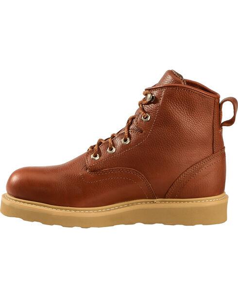 American Worker Men's Russet Lace-Up Steel Toe Work Boots, Russet, hi-res