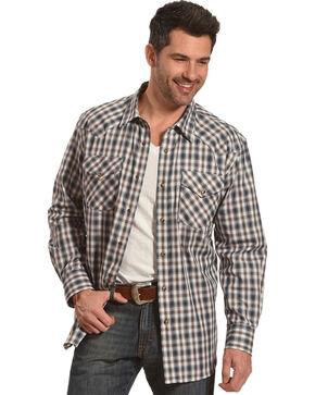 Pendleton Men's Brown Herringbone Plaid Long Sleeve Shirt, Brown, hi-res