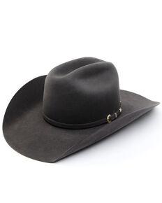 American Hat Co. 40X Steel Self Band Premium Wool Felt Western Hat  , Steel, hi-res